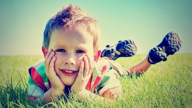 Young boy laying in grass | Child Custody Attorney Hoffman Estates